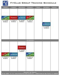 Fit Elements class schedule